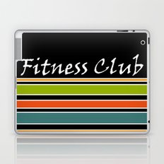 The fitness club . Sport . Colorful stripes on black background . Laptop & iPad Skin
