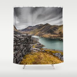 Snowdon Moutain Range Shower Curtain