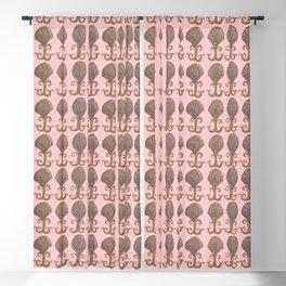 Art Deco Avalon Shell Pattern Pink Blackout Curtain