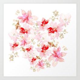 Grace Floral Wallpaper Art Print