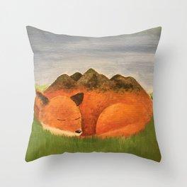 Sleepy Meadow Throw Pillow