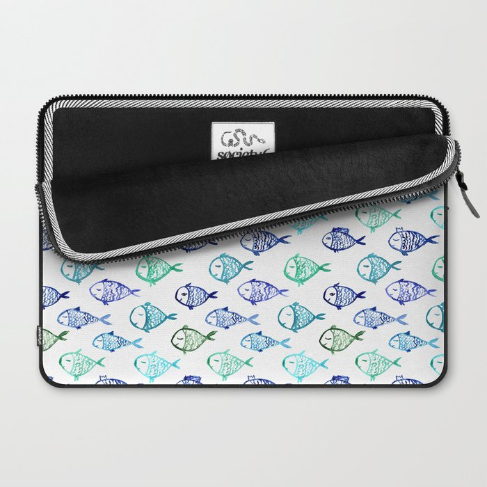 Swimming to Maldives || watercolor Laptop Sleeve
