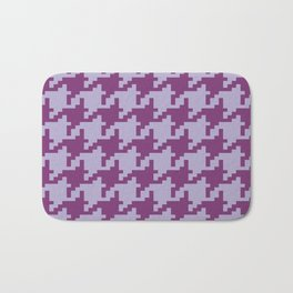 Houndstooth - Purple Bath Mat