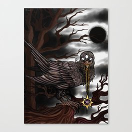 Raven of the Night Canvas Print