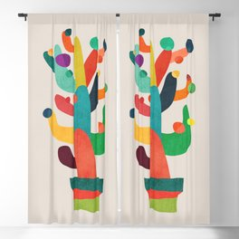 Whimsical Cactus Blackout Curtain