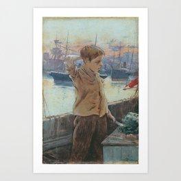 Adolfo Guiard  El cho 1887  The Ships Boy Art Print