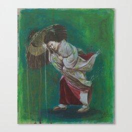 The Geisha on the Washing Line Canvas Print