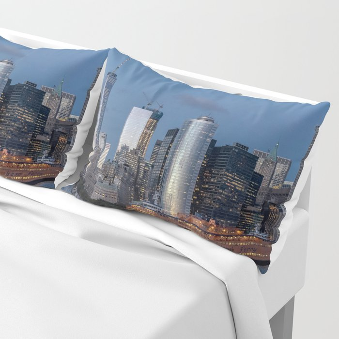 NYC and Staten Island Ferry Pillow Sham