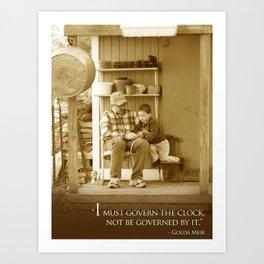 Govern the Clock Art Print