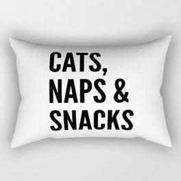 Cats, Naps & Snacks Rectangular Pillow