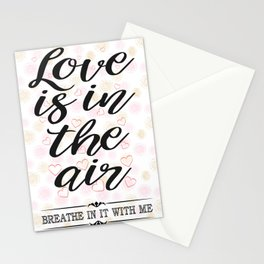 All about Love and Lovers Typography Stationery Cards