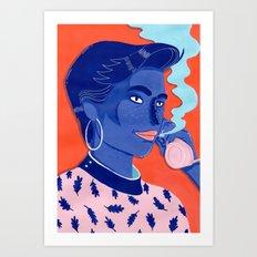 MEET ME AT THE POOL 5 Art Print