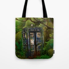Abandoned Tardis doctor who in deep jungle iPhone 4 4s 5 5s 5c, ipod, ipad, pillow case and tshirt Tote Bag