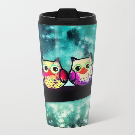 owl-253 Metal Travel Mug
