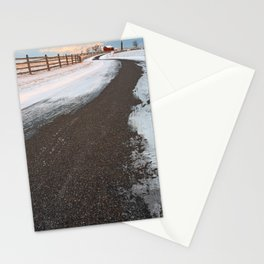 Winding Winter Road Stationery Cards