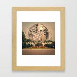 globe... Framed Art Print