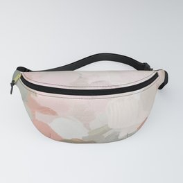 Forest Green Fuchsia Blush Pink Abstract Flower Spring Painting Art Fanny Pack