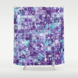 Purple Grime Foral Shower Curtain