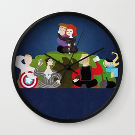 Sleepover Assemble Wall Clock