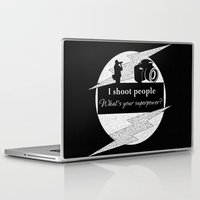 aperture Laptop & iPad Skins featuring I Shoot People by LLL Creations