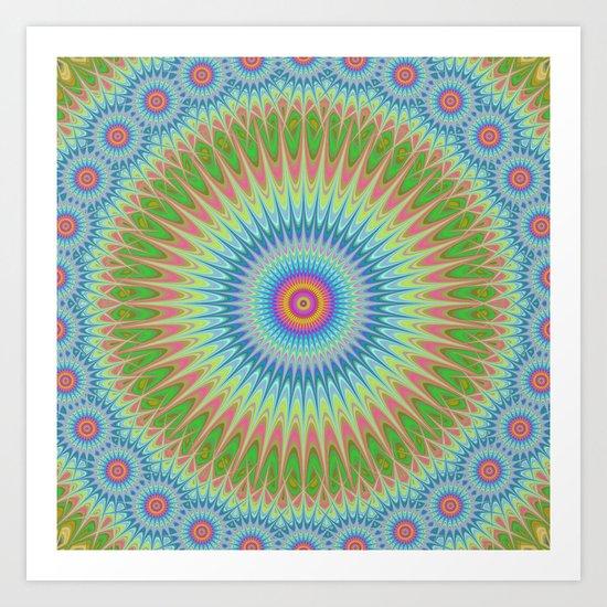 Starry mandala Art Print