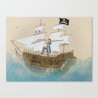 pirate Canvas Prints featuring Pirate by Polina Kovaleva