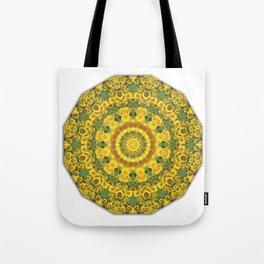 Sunflowers, Floral mandala-style, Flower Mandala Tote Bag