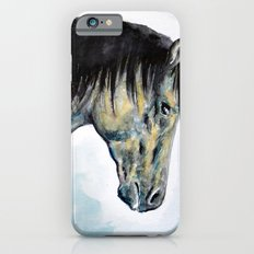 Horse in blue iPhone 6s Slim Case