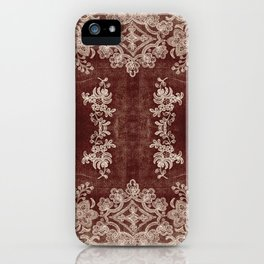 Vintage Lace Rug Pattern iPhone Case