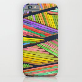 Abstract Landscape - Dutch tulip fields iPhone Case