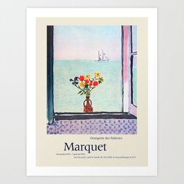Albert Marquet. Exhibition poster for Musee de l'Orangerie in Paris, 1975-1976. Art Print