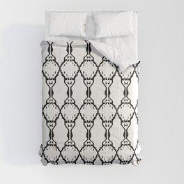Design ornaments, on white Comforters