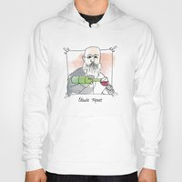monet Hoodies featuring Claude Monet by Lucy Weigard