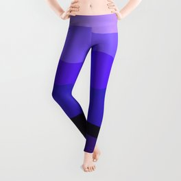 Abstract Mountains and Hills in Blue Leggings