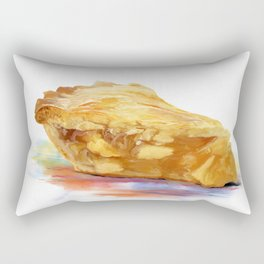 Digital Painting of  Slice Of Apple pie Rectangular Pillow