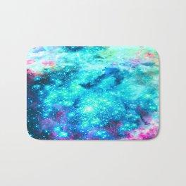 Turquoise Fuchsia Sparkle Stars Bath Mat