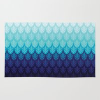 arctic monkeys Area & Throw Rugs featuring Arctic Ombre! by TotalBabyCakes