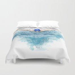 Swimming Duvet Cover