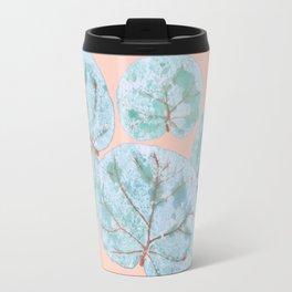 Tropical Sea Grape Leaves Travel Mug