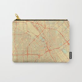 San Jose Map Retro Carry-All Pouch