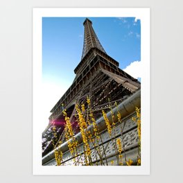 Paris : Spring Tower Art Print