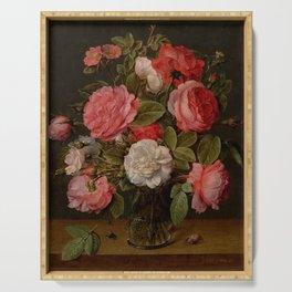 "Jacob van Hulsdonck ""Roses in a Glass Vase"" Serving Tray"
