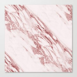 Ripples of Rose and Cream Marble Canvas Print