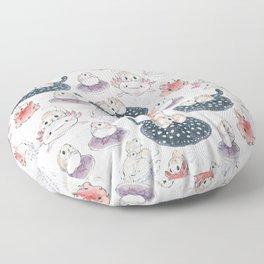 Siberian flying squirrels Floor Pillow