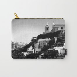 Portugal Hills, Lisbon | Black & White Carry-All Pouch