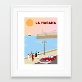 La Habana Malecon Framed Art Print