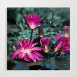 WATER LILY Wood Wall Art