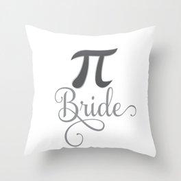 3:14 Pi Day Bride Throw Pillow