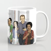 caleb troy Mugs featuring Welcome Home Troy by Kivitasku Designs