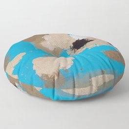 Turquoise and Gold Floor Pillow